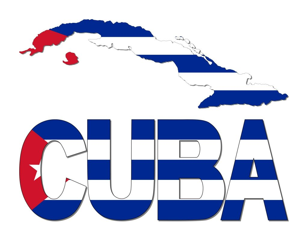 Education today with Cuba map flag and text illustration